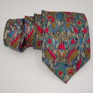 Brioni Silk Tie | Hearts & Leaves | EUC